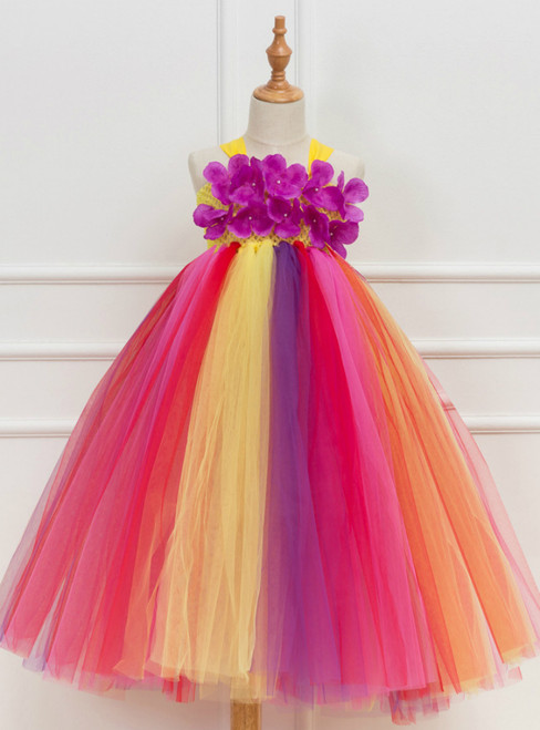 Flower Tulle Tutu Party Birthday Dress