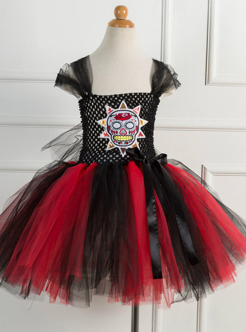 Halloween Girls Make Funny Faces Tulle Dress