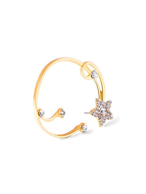 Rhinestone Star Design Ear Cuff 1pc