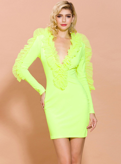 In Stock:Ship in 48 Hours Fluorescent Color Party Dress