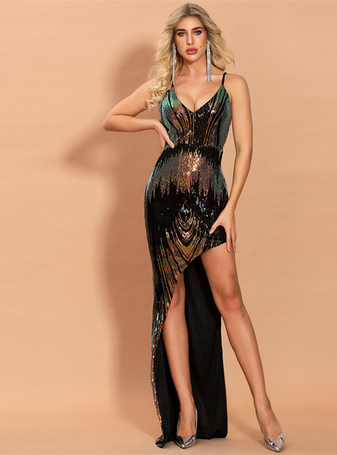 In Stock:Ship in 48 Hours Irregular Sequins Party Dress