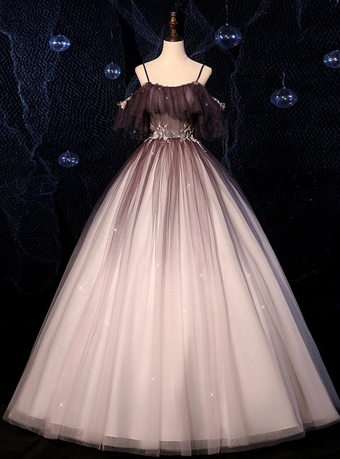 Black Fantasy Gradient Starry Sky Quinceanera Dress
