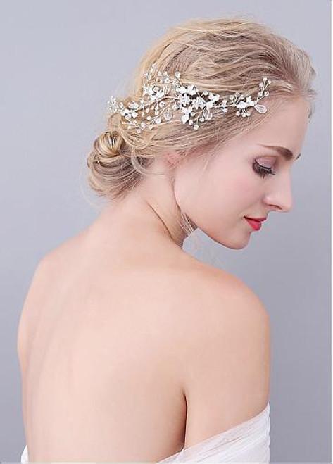 Junoesque Alloy Wedding Hair Jewelry With Rhinestones