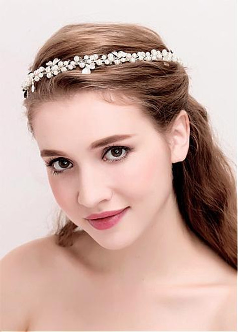 Fashion Alloy Wedding Hair Jewelry With Pearls