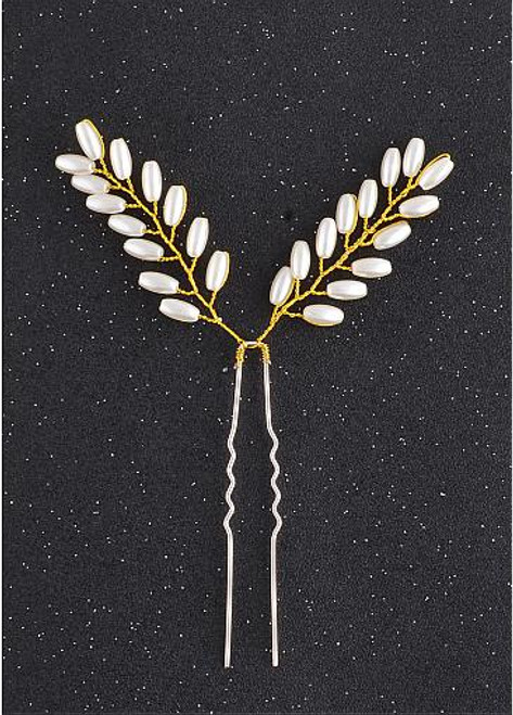 Elegant Hair Ornaments With Pearls cheap