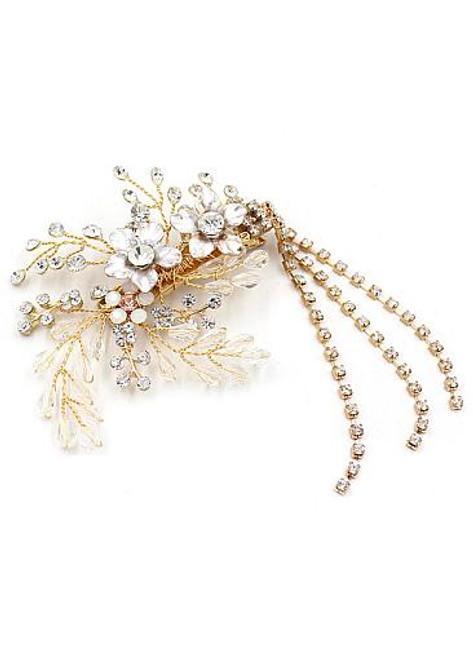 Wedding Hair Jewelry With Beading & Rhinestones