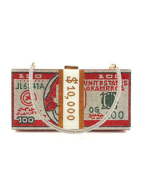 Red Beading Wedding Clutch Bag