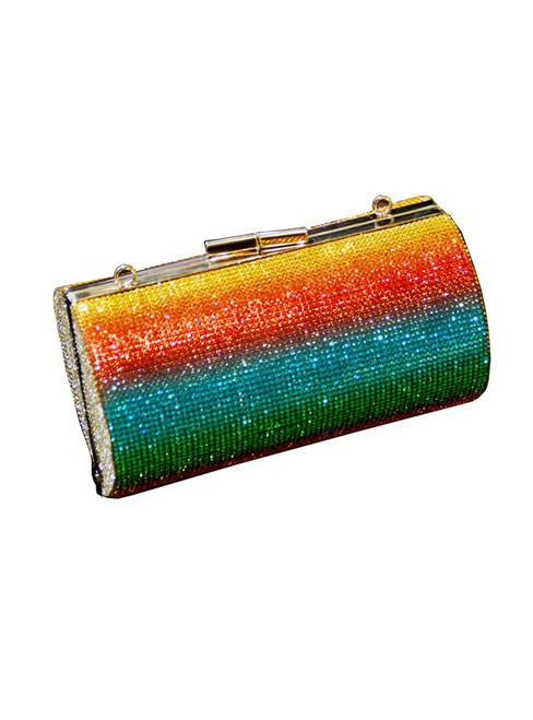 Rainbow Rhinestone Purse Evening Bags