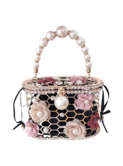 Flower Pearl Handbag for Women Evening Bag