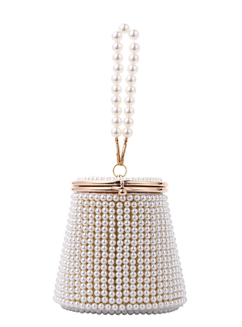 Women Evening Pearl Bags Beading Holder Day Clutch