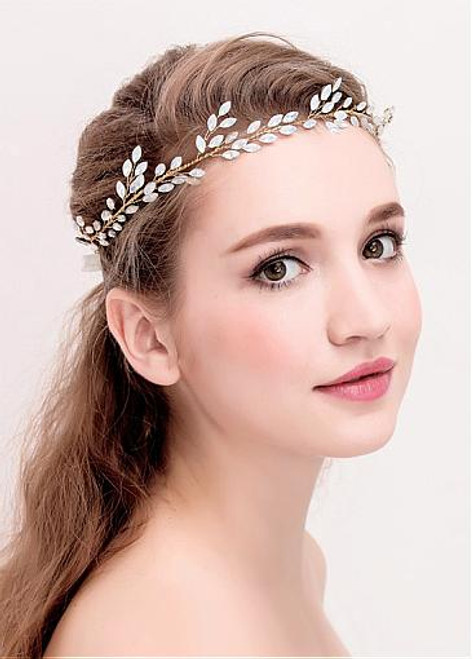 Pretty Alloy Wedding Hair Jewelry With Rhinestones