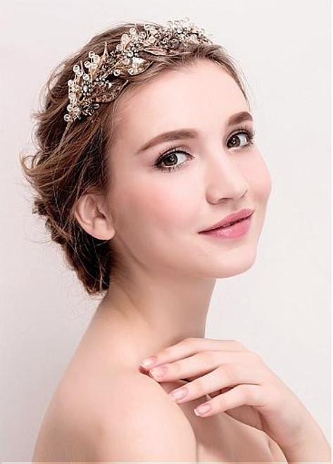 Cheap Elegant Alloy Wedding Hair Jewelry With Rhinestones