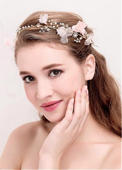 Chic Alloy Wedding Hair Jewelry With Pearls