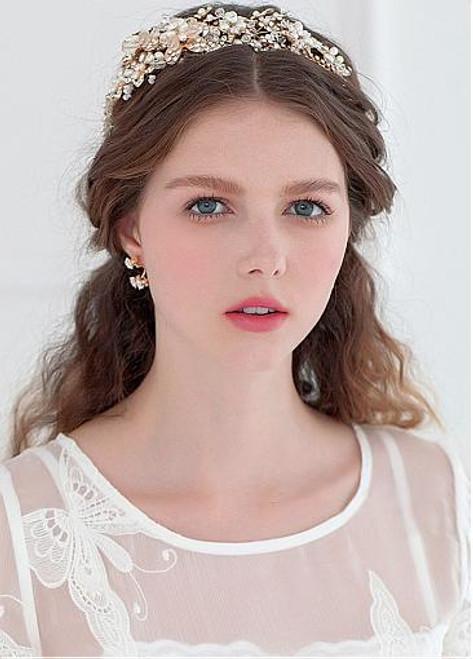 Cheap Elegant Alloy Hair Jewelry With Rhinestones & Pearls