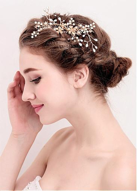 Newest Alloy Wedding Hair Jewelry With Rhinestones
