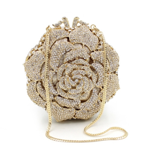 Cheap Deluxe Full of Rhinestone Rose Women's Clutches