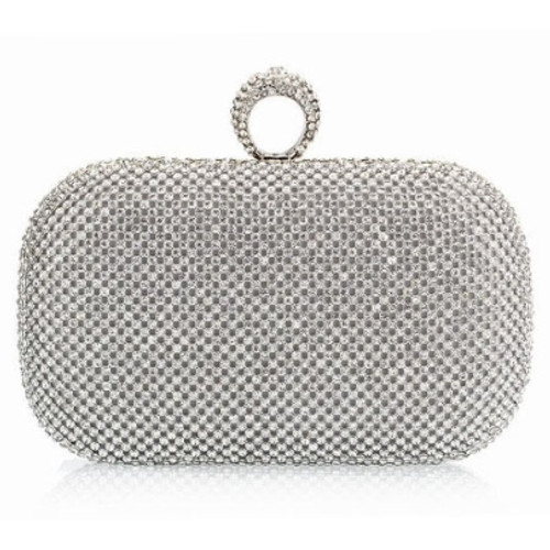 Fashion European Diamond Ring Women's Clutch Bag