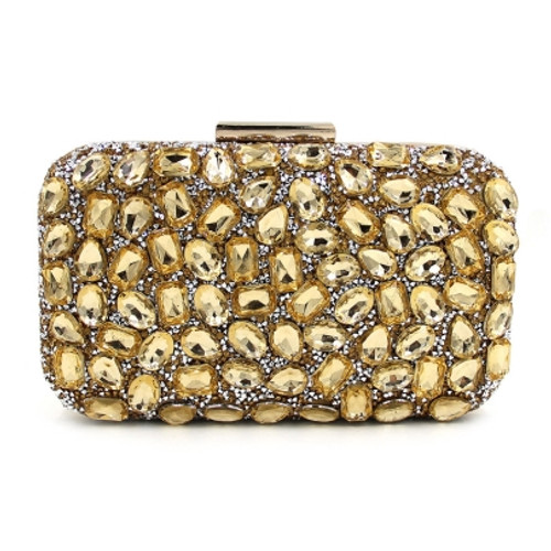 Cheap Vogue Shiny Diamante Latch Evening Clutch