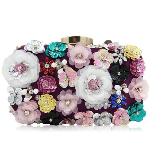 Floral Pearl Embroidery Chain Cross Body