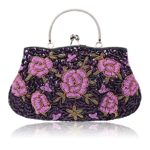 Cheap Elegant Embroidery Handmade Beads Clutch