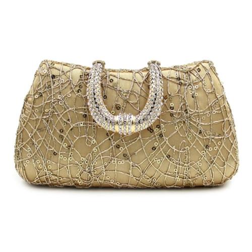 Fashion Upscale Sequins Diamante Evening Clutch