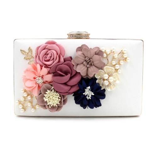 Fashion Lastest Diamante Floral Evening Clutch
