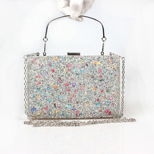 Cheap Shining Colorful Stone Encrusted Design Clutch