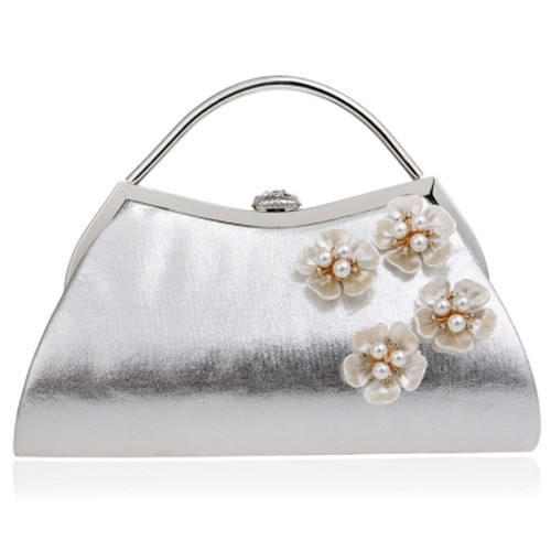 Beautiful Trendy Style Pearl Adornment Women's Clutch