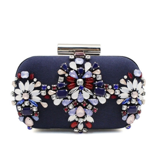 Cheap Elegant Manual Nail Bead Chain Clutch Bag