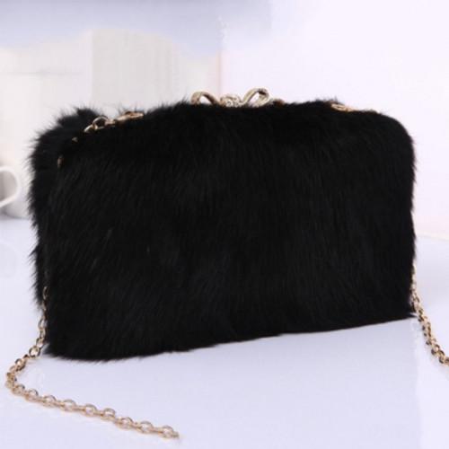 Cheap Luxurious Plush Cross Body Bag