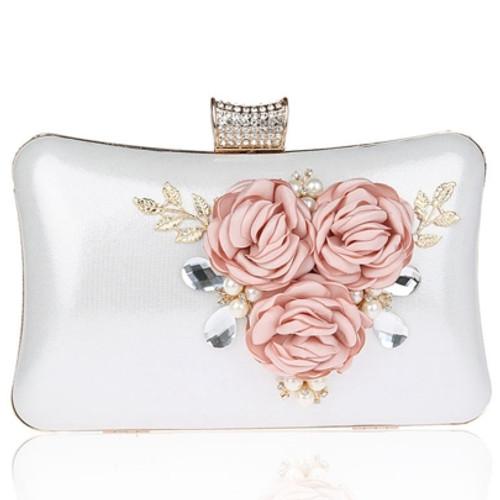 Cheap Gorgeous Diamond Flower Decoration Clutch