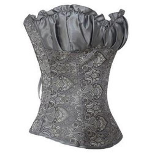 Cheap Fashionable Strapless Jacquard Ruffled