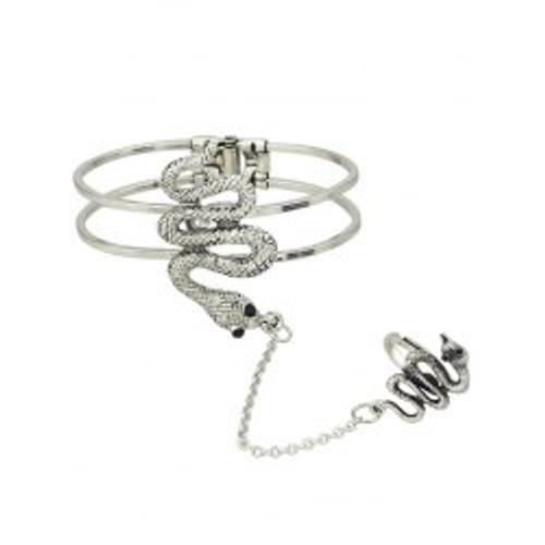 Cheap  Vintage Snake Bracelet With Ring