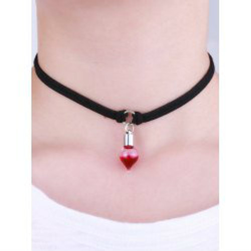 Cheap Faux Leather Round Blood Halloween Choker