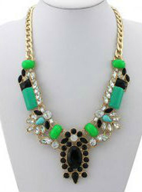 Fashion Gorgeous Faux Jade Gemstone Necklace