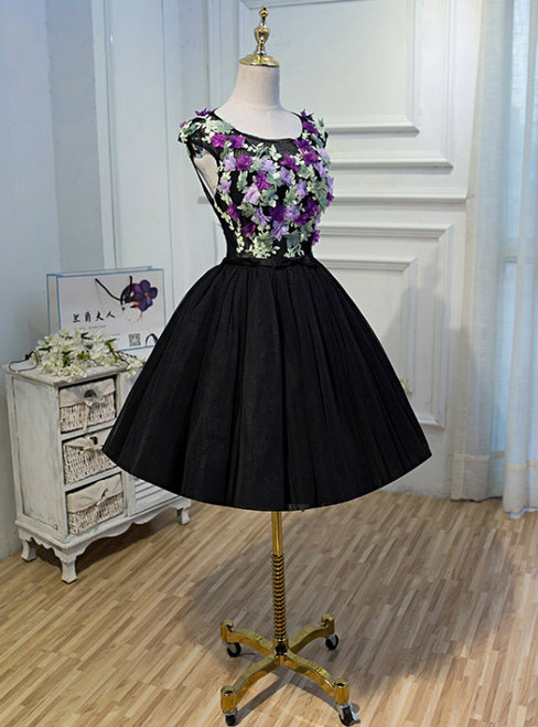 Short Homecoming Dress Tulle Homecoming Dress Open-Back