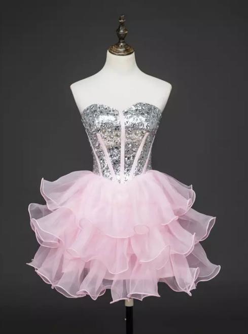 A-line Sweetheart Short Mini Tulle Short Prom Dress Homecoming Dresses