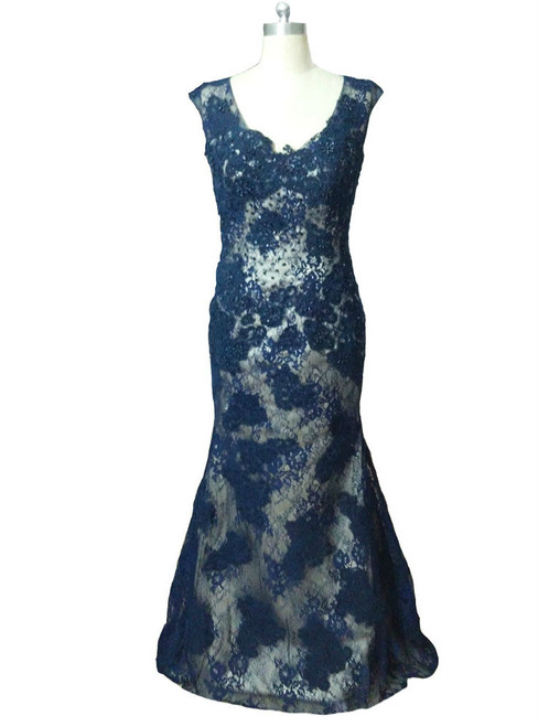 Cheap Long Beaded Cap Sleeves Formal Dresses Mother Of the Bride Dresses