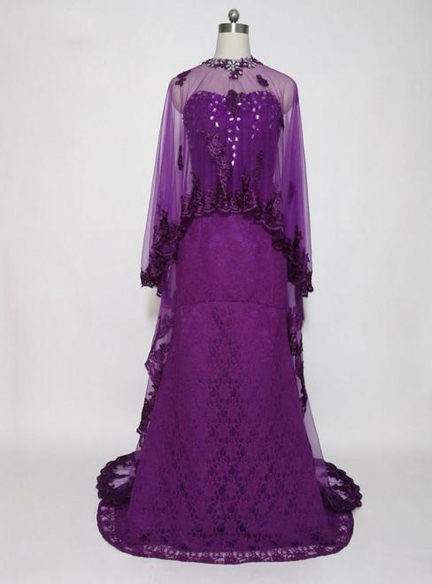 Elegant High Neck Long Evening Gowns Formal Dresses Mother of the Bride Dresses