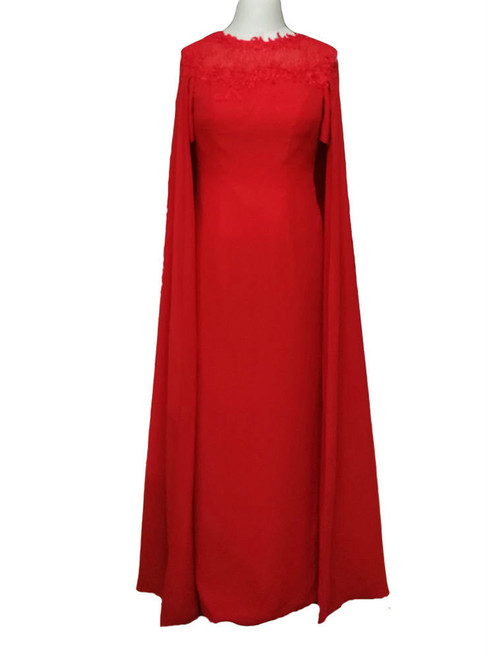 Best  Long Evening Dresses With Cape Mother of the Bride Dresses Formal Dresses