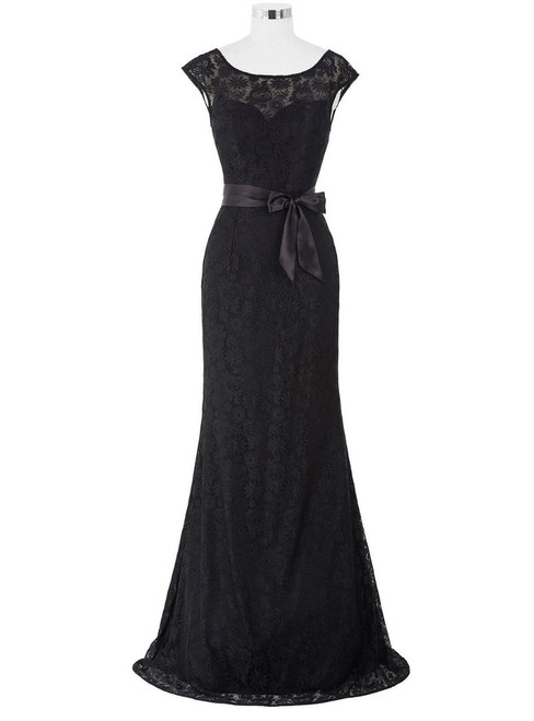 New Long Mother of the Bride Dress Black Wine Red Lace Dresses for Wedding