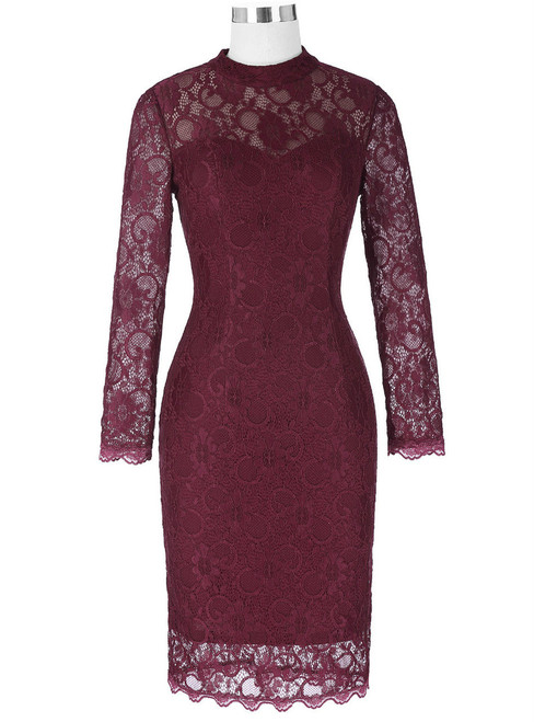 Adorable 2017 Wine Red Long Sleeve Mother of the Bride Dresses