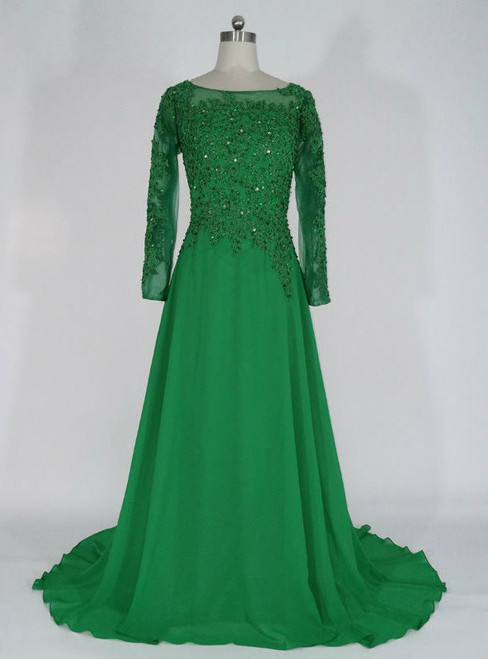 New arrivals  Long Lace Appliques Beaded Formal Dresses Mother of the Bride Dresses