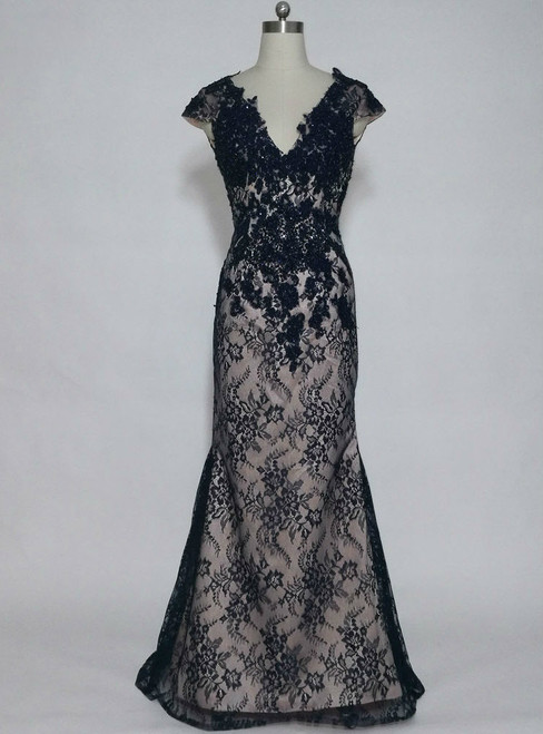 Hot Sale Formal Evening Gowns Cap Sleeves Mother of the Bride Dresses