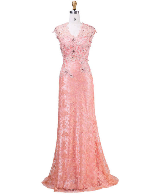 Luxurious Mother of the Bride Dresses 2017 New Design With V-neck Appliques