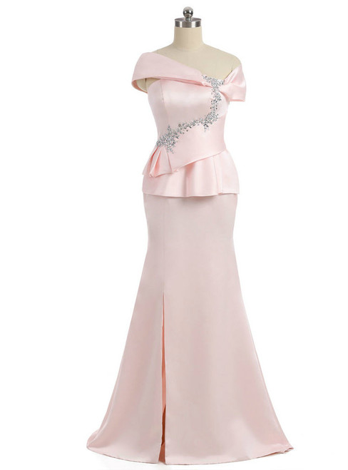 Amazing Pink 2017 Mother Of The Bride Dresses Mermaid V-neck Cap Sleeves