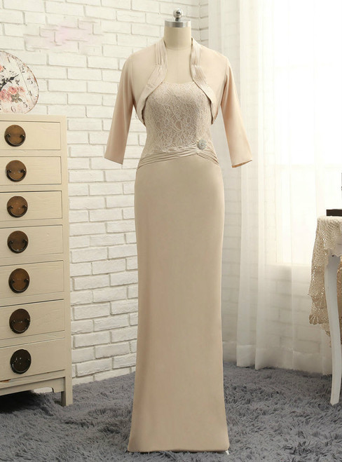 Stunning 2017 Mother Of The Bride Dresses Sheath Floor Length Lace With Jacket Wedding