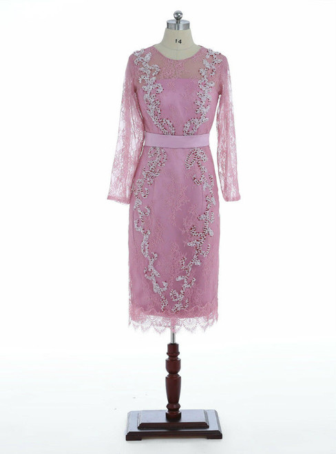 Latest Tea Length Lace Mother of The Bride Dress 2017 with Beading