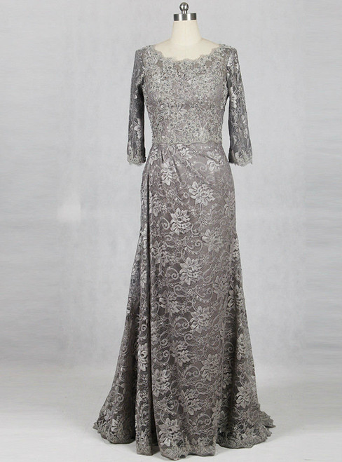 Advanced Silver Gray Mother Of Bride Dresses Lace