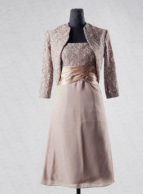 61afed227c8 Modern Mother Of The Bride Dresses Short Knee Length With Jacket Mother  Groom